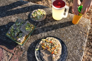 Our solar-prepared meal!
