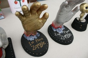 The trophies for the Zombies able to terrorize the most humans.